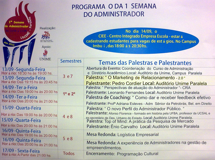 Palestra-Marketing-Relacionamento-2.0-UNIME-setembro-2010-cartaz-professor-pedro-cordier